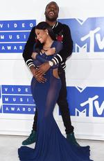 Nicki Minaj and Meek Mill attend the 2016 MTV Video Music Awards at Madison Square Garden on August 28, 2016 in New York City. Picture: Jamie McCarthy/Getty Images