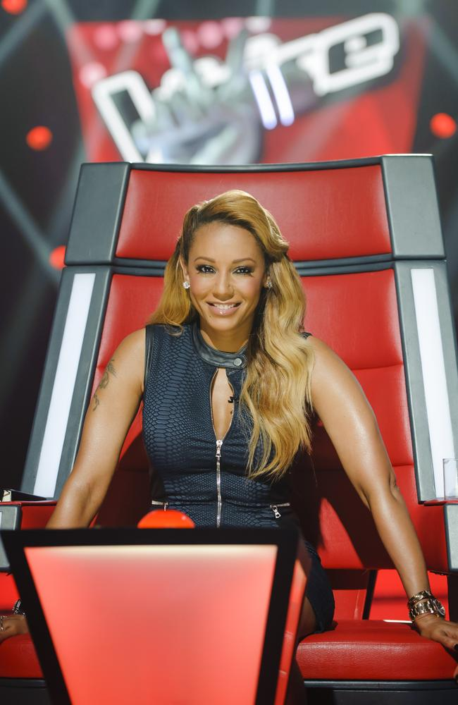 Red hot ... Mel B joins The Voice Kids as a coach. Picture: Nine Network.