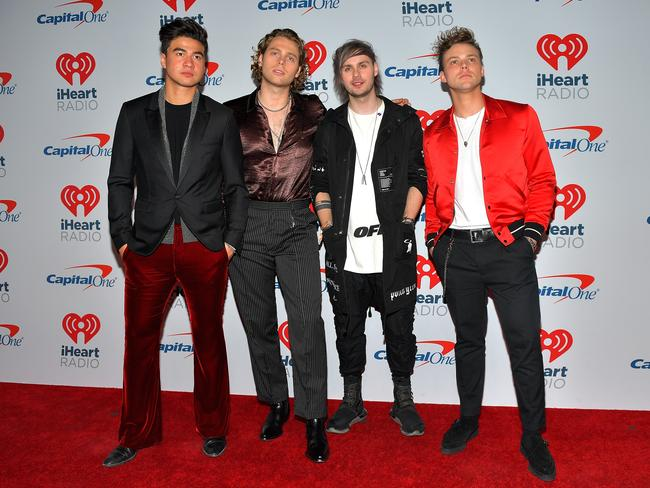 Calum Hood, Luke Hemmings, Michael Clifford, and Ashton Irwin of 5 Seconds of Summer. Picture: Getty