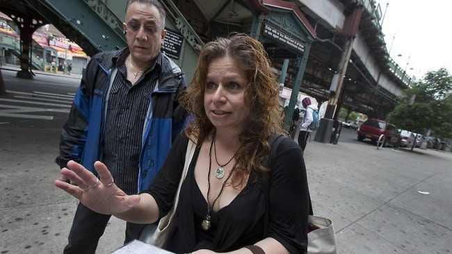 Folklorist Elena Martinez of City Lore, and her partner Bobby Sanabria, talk about their tours of The Bronx. Picture: AP