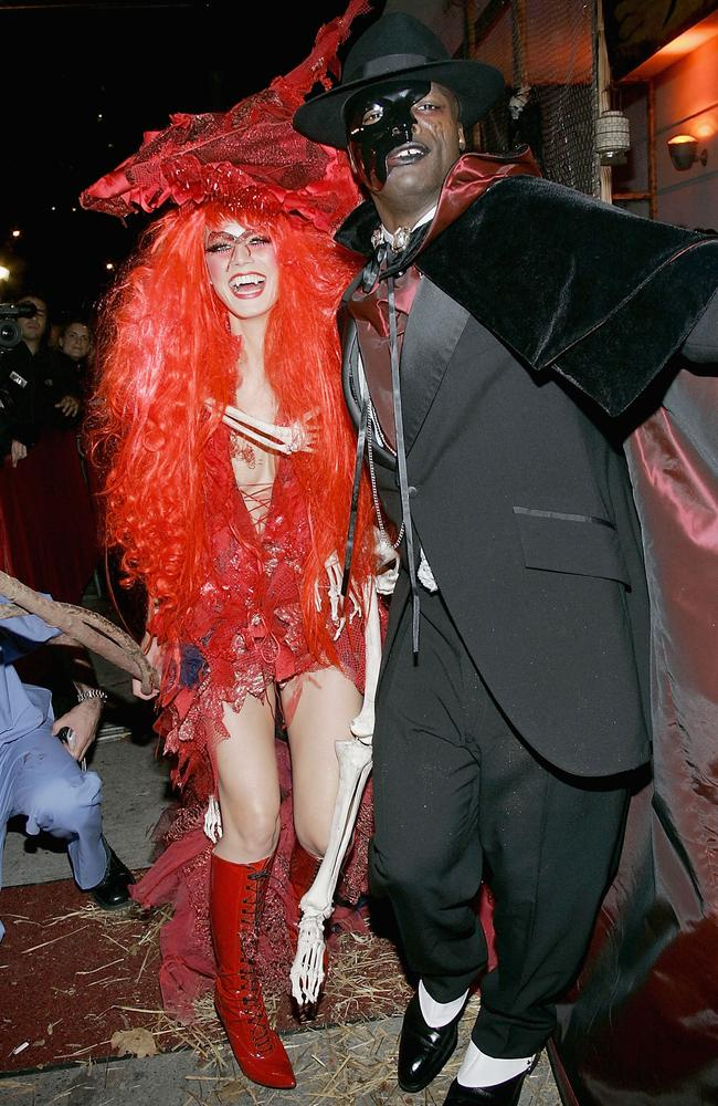 Klum and her ex-husband Seal made a spooky pair in 2004. Picture: Getty Images.