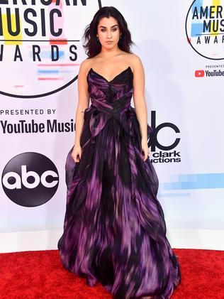 Purple reign from Lauren Jauregui. Picture: Getty