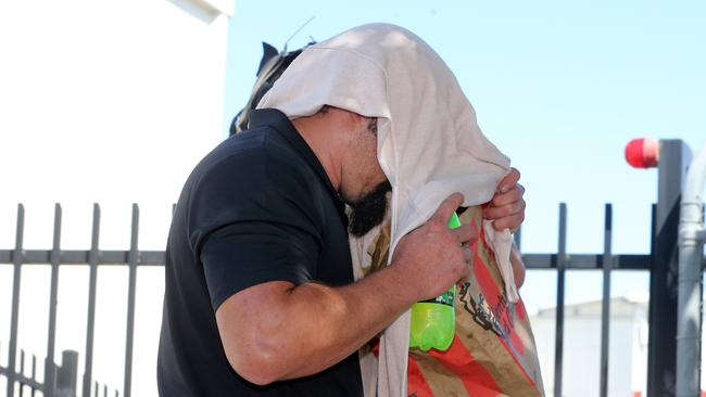 Scott Thompson at the committal hearing at Beenleigh Court for alleged killer Zlatko Sikorsky. Picture: Richard Gosling/AAP