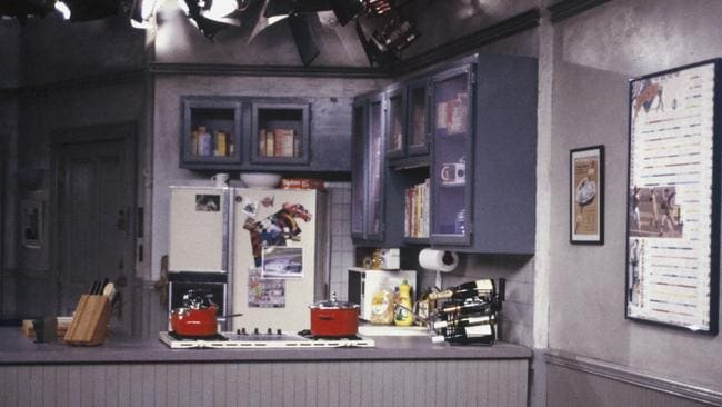 The rarely seen kitchen wall in Jerry's apartment.