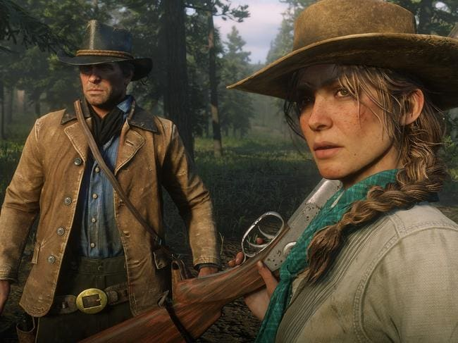 Red Dead Redemption II offers fans massive amounts of gunfire, horses and outlaws across the Wild West. Picture: Screengrab from Red Dead Redemption II