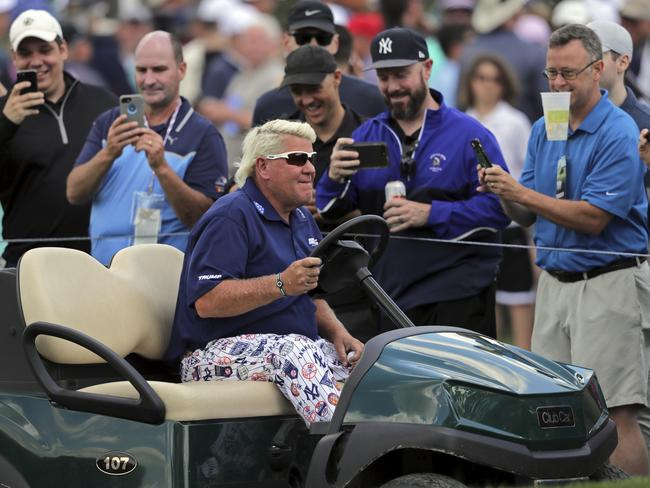 Fans loved getting a glimpse of Daly and his sweet ride.