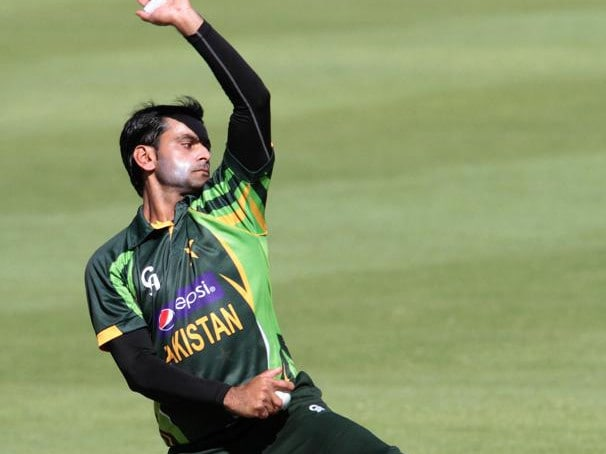 Hafeez's bowling action has come under scrutiny in the past.