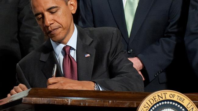 Barack Obama signed a lot of legislation during his first two years — and struggled to pass anything after that. Picture: Saul Loeb/AFP