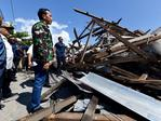 In this photo released by the Indonesian Presidential Office, Indonesian President Joko Widodo walks at the damage area following earthquakes and a tsunami in Palu, Central Sulawesi, Indonesia, Sunday, Sept. 30, 2018. Picture: Agus Suparto/Indonesian Presidential Office via AP