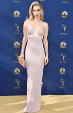 Vanessa Kirby attends the 70th Emmy Awards at Microsoft Theater on September 17, 2018 in Los Angeles, California. Frazer Harrison/Getty Images/AFP