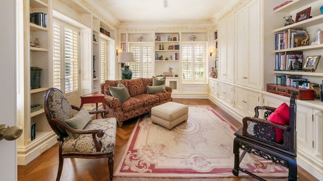 One of the many elegant living areas.