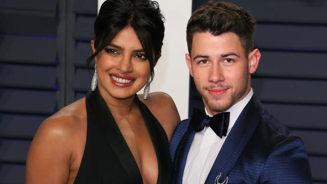 Priyanka Chopra and husband Nick Jonas at the 2019 Vanity Fair Oscar Party. Picture: JB Lacroix/AFP
