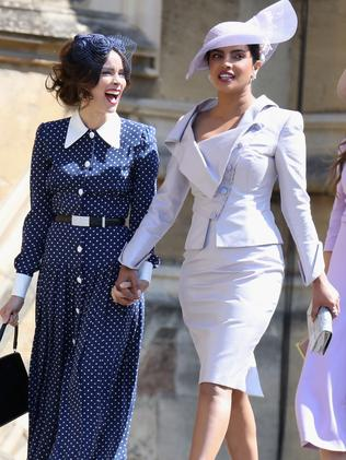Prinyanka Chopra (right) before Meghan and Harry were wed... Picture: Getty Images
