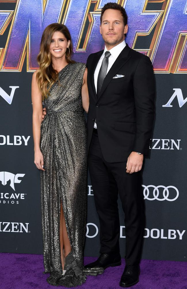 Chris Pratt and Katherine Schwarzenegger. Picture: Valerie Macon/AFP