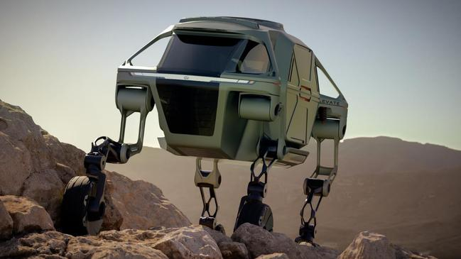 The Elevate would be able to climb of rough terrain.