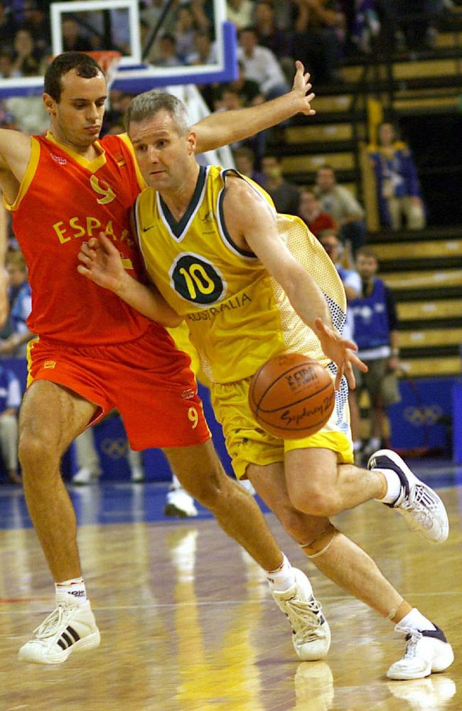 Andrew Gaze always performed strongly for Australia in international competition.
