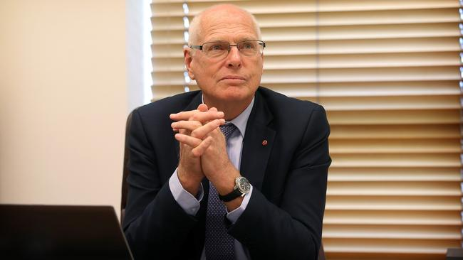 Senator Jim Molan in his office at Parliament House. Picture: Kym Smith.
