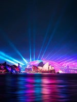 Favourite Instagram moments of Vivid Sydney 2019, the largest festival of lights, music and ideas in the Southern Hemisphere, attracts more than 2 million visitors every year. Sydney Harbour(Instagram - @_danieltran_)