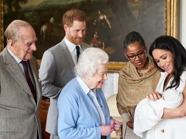 The Queen clearly adores her great-grandchild. Picture: Chris Allerton/SussexRoyal via Getty Images