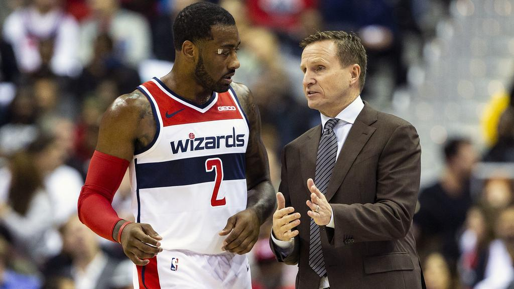 Washington Wizards star John Wall yelled expletives at head coach Scott  Brooks in the past week. Picture AP Photo