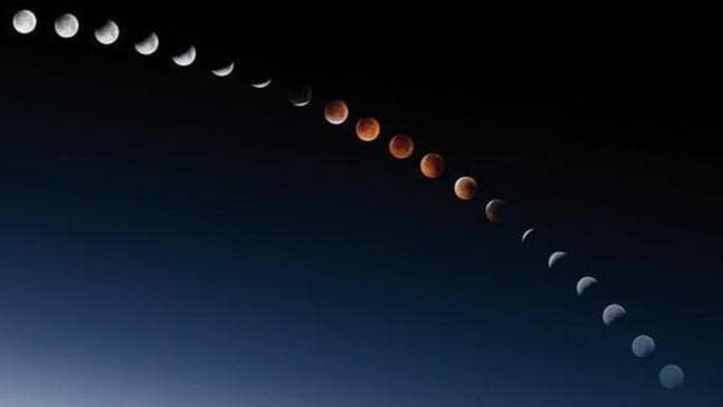 The 2011 total lunar eclipse in Egypt. Picture: Sean Bagshaw/NASA