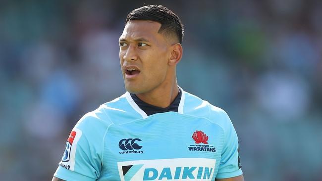Israel Folau has been named to start for the Waratahs.