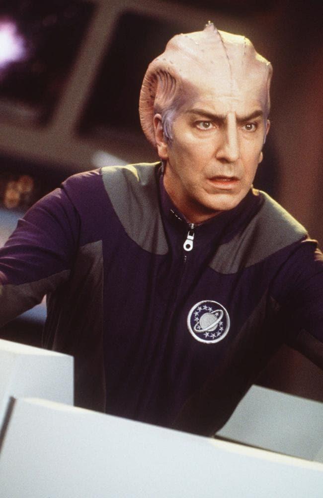 Rickman played Alexander Dane (Dr. Lazarus) in the film.