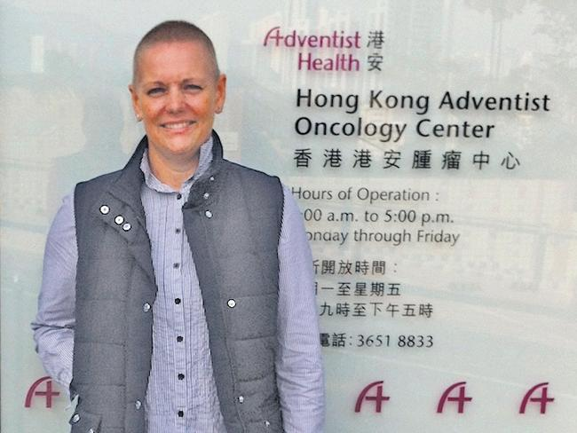 Lisa Laird has been travelling to Hong Kong to get cancer treatment not available in Australia.