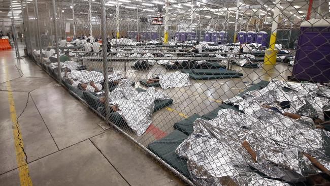 Image result for trump caged kids