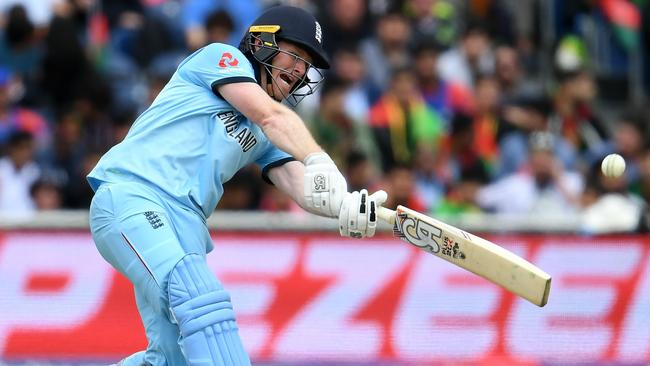 England captain, six-hitting machine and Irishman Eoin Morgan during his record-shattering innings against Afghanistan.