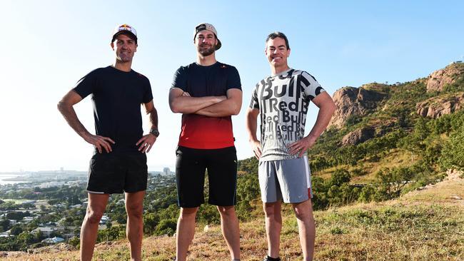 Jamie Whincup, Shane van Gisbergen and Craig Lowndes. Pic: Zak Simmonds