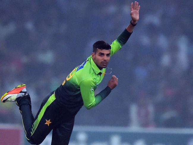 In-form Pakistan spinner Shadab Khan.