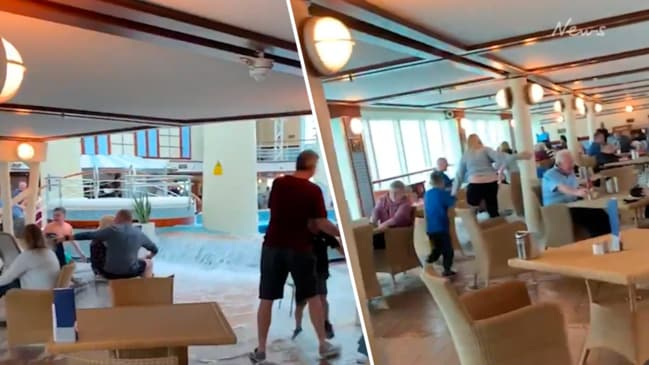 Passengers carry on drinking in cruise flood