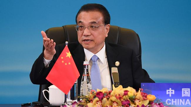 Chinese Premier Li Keqiang in December 2019 pledged to encourage more bank loans to the nation's cash-strapped small companies. Picture: AFP