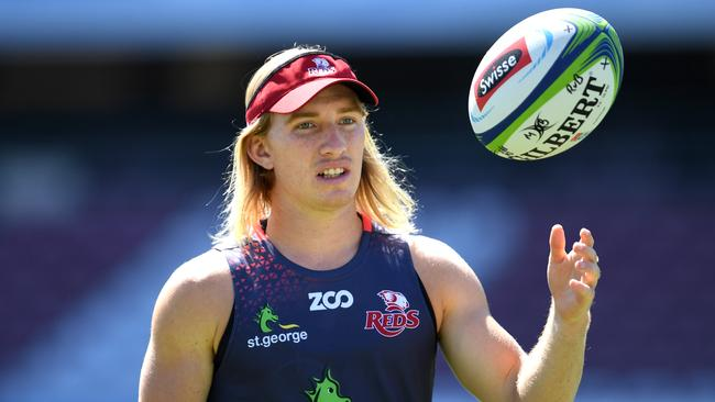 Queensland Reds halfback Tate McDermott's heartbreaking journey to his Super debut. Picture: AAP Image