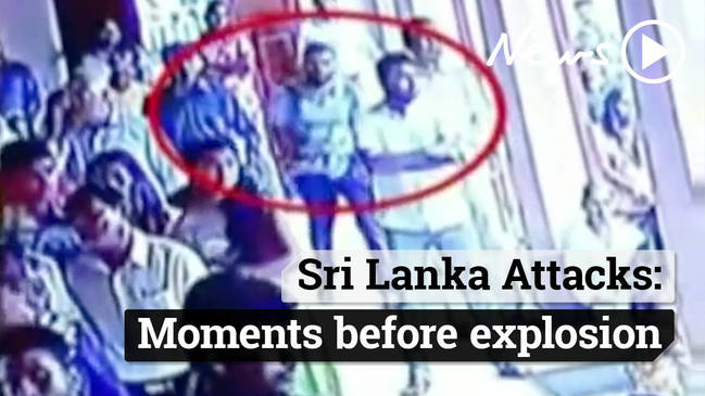 Sri Lanka terrorist attacks: Moment bomber enters church