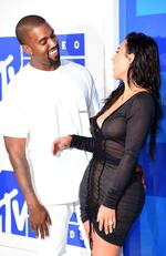 Kanye West and Kim Kardashian West attend the 2016 MTV Video Music Awards at Madison Square Garden on August 28, 2016 in New York City. Picture: Gettyes)