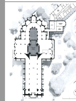 A plan of St Patrick's Cathedral.