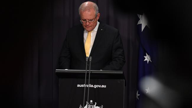 Prime Minister Scott Morrison on Tuesday night. Picture: Sam Mooy) AAP Image/Getty Pool