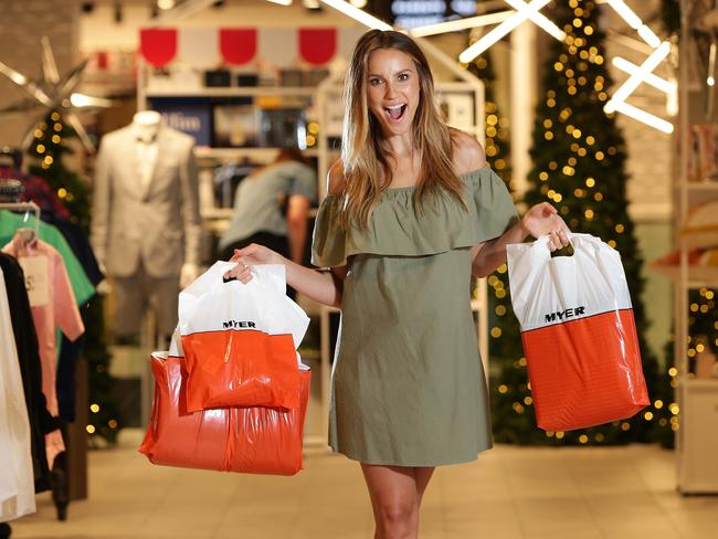 Myer Ambassador Rachael Finch at the renovated Warringah Mall store. Picture: Troy Snook