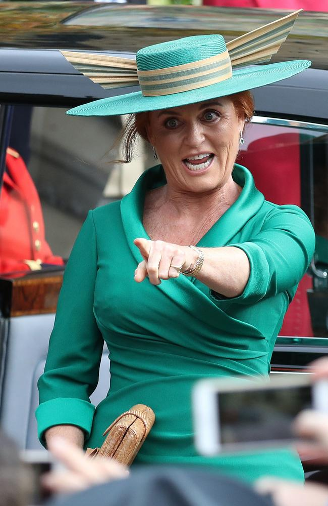Sarah Ferguson was in her element as mother of the bride. Picture: Steve Parsons