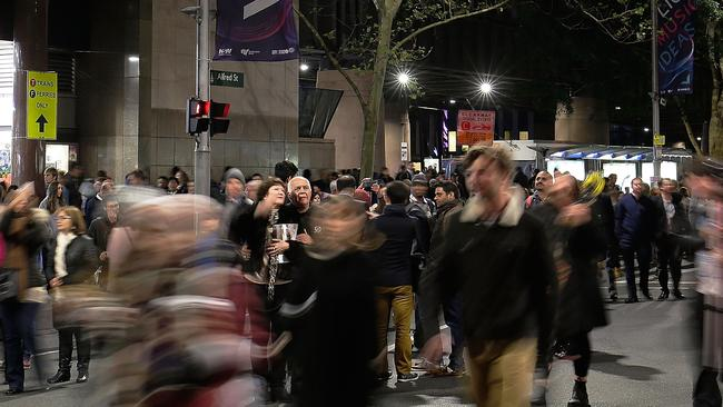 Large crowds caught organisers unawares during Vivid's opening days. Picture: Mark Metcalfe/Getty Images.