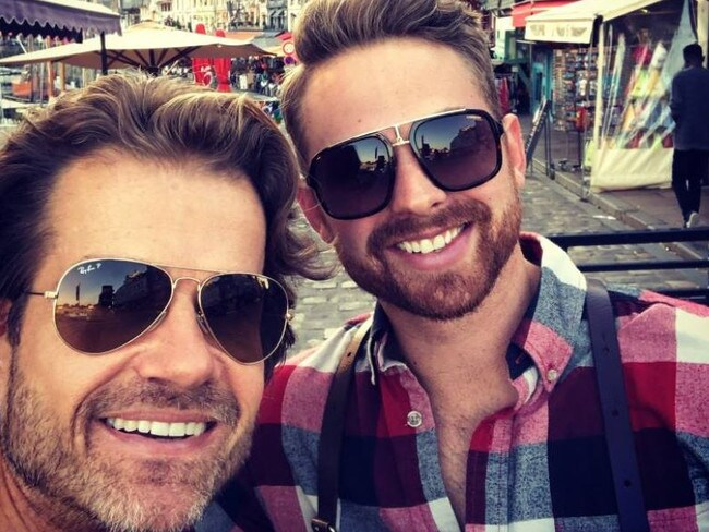 Louis van Amstel (left), pictured with his husband Joshua, said their 11-year-old son was bullied by a schoolteacher for having two dads. Picture: Facebook