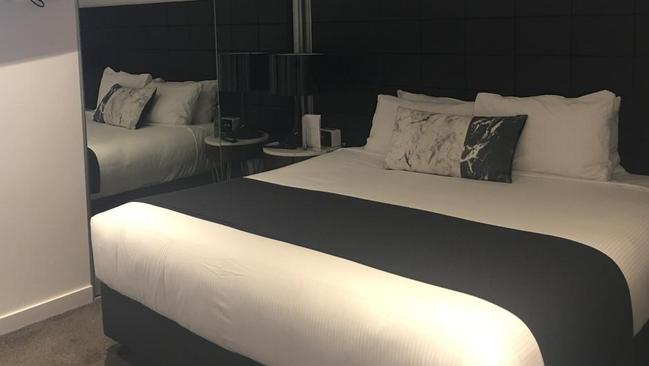 The serviced apartment's bedroom.