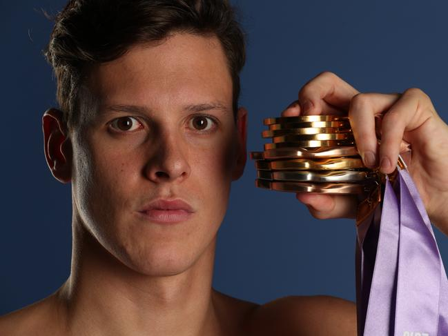 Mitch Larkin won five gold medals during the Gold Coast Commonwealth Games. Picture: Liam Kidston.