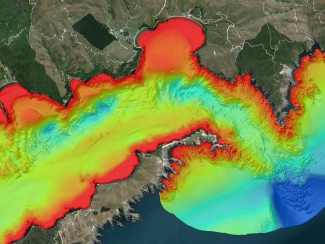 The technology surveyed the Marlborough Sound region. Picture: NIWA