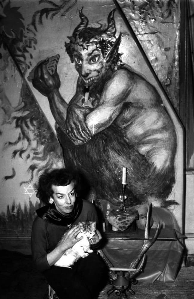 Artist Rosaleen Norton was known for her art, which celebrated occult figures.