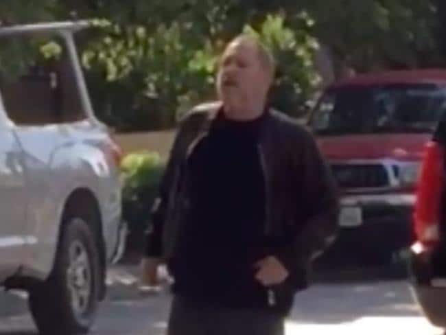 Weinstein was spotted leaving his daughter's home. Picture: TMZ/BACKGRID