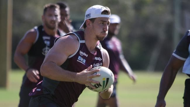 Lachlan Croker is set to start in the No. 6 jersey for Manly.