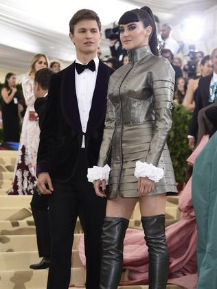 Ansel Elgort and Shailene Woodley attend the 2018 Met Gala in New York City. Picture: AP